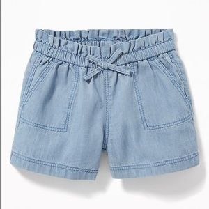 Old Navy Pull-On Chambray Shorts for Baby Girl